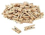 80 x itenga DekoKlammern 2,5cm Holz MiniHolz-Klammern...
