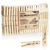 com-four® 120x Wäscheklammern aus Holz - Nachhaltige...