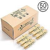greenli 50 x Wäscheklammern aus Bambus- 6 cm - Die...