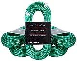 ZIXXONE-HOME Wäscheleine mit Stahlkern 60m Seil...