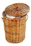 Geflochtener Wäschekorb aus Rattan